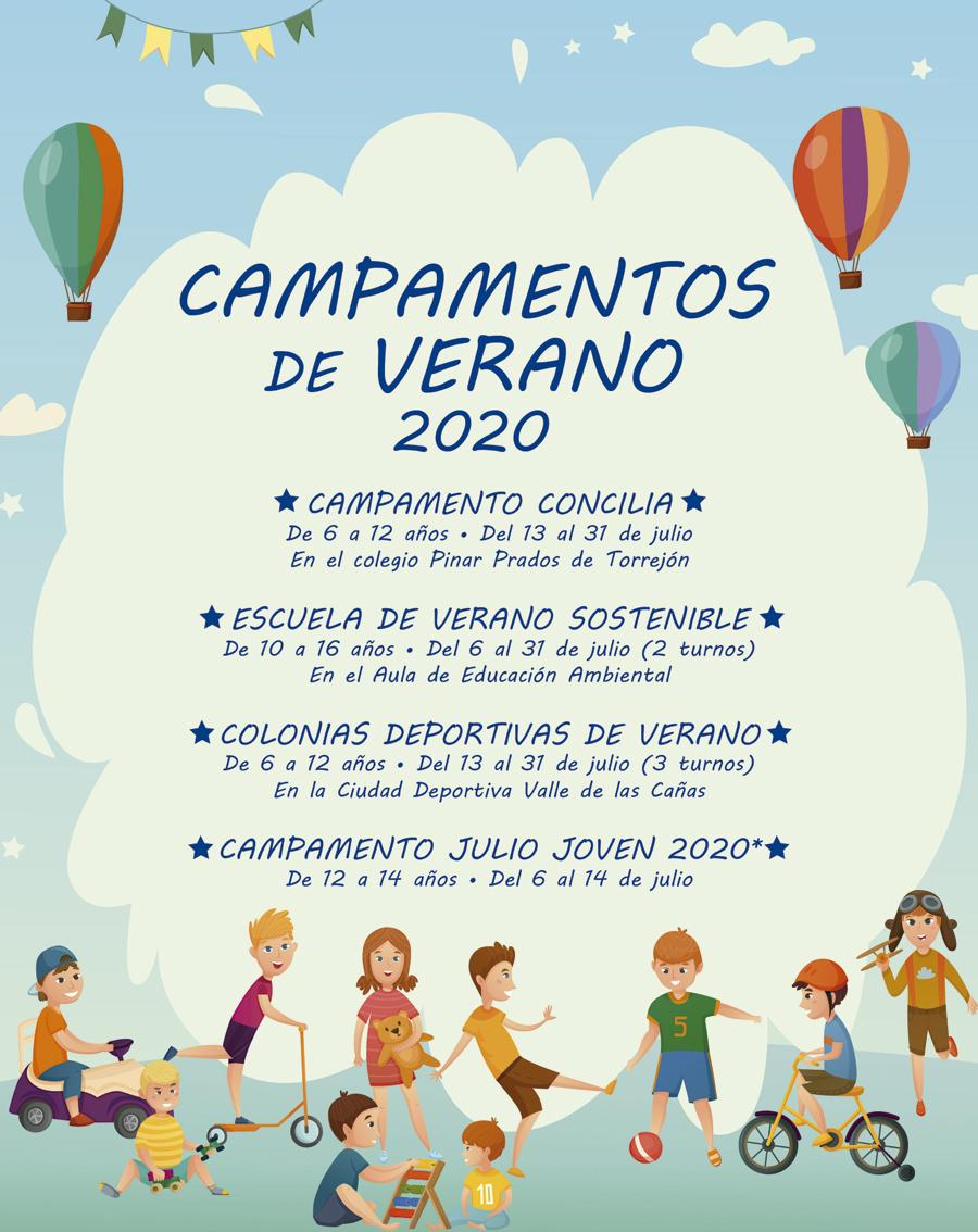Cartel Campamentos de verano