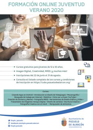 Cartel formación online juventud para verano