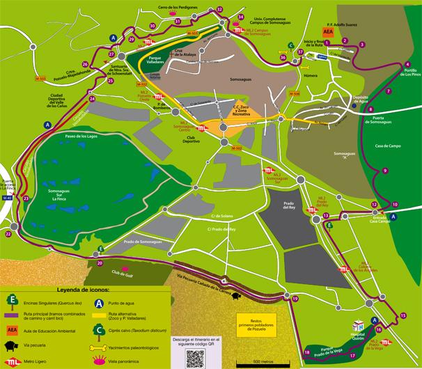 Pozuelo De Alarcon Mapa.Ruta Senderismo Urbano Gran Circular Verde Ayuntamiento
